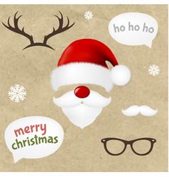 hipster christmas set vector image vector image
