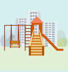 kids playground moden vector image