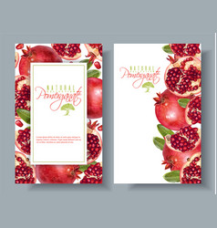 Pomegranate vertical round banners vector