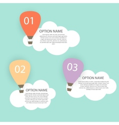 Retro infographic with air balloons vector