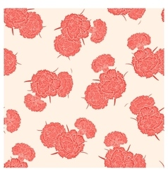 Seamless pattern of pink carnations vector image vector image