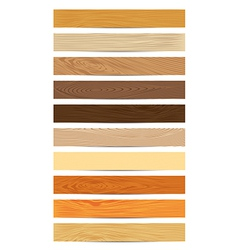 Set of Wood Textures vector image vector image