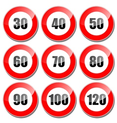 Speed limit sign vector image vector image