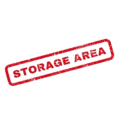 Storage Area Rubber Stamp vector image vector image