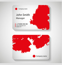 stylish red business card template vector image vector image