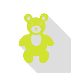 teddy bear sign pear icon with flat vector image vector image