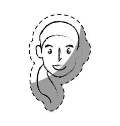 Young woman head avatar vector