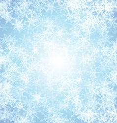 Christmas background with ice effect vector