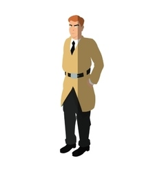 Isolated inspector man cartoon design vector image
