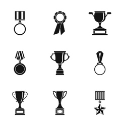 Championship icons set simple style vector