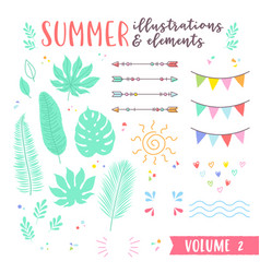 Summer design with fruits tropical and beach vector