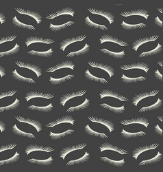 Pattern with a lashes on dark gray background vector