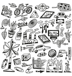 Technology  ecology - icons vector