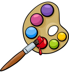 Brush and palette clip art cartoon vector