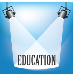 Spotlight education vector