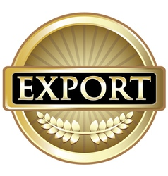 Export Gold Emblem vector image