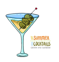 Cocktails one cartoon 11 vector