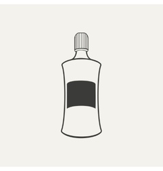 Bottle black and white style vector