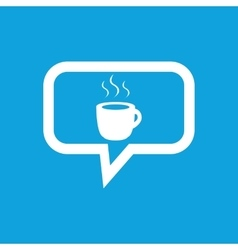 Hot drink message icon vector