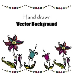 doodle flower background vector image