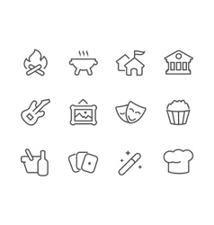 Outline event icons vector