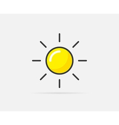 Sun can be used as logo or icon vector