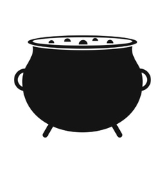 Witch cauldron with potion vector