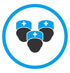 Medical staff rounded icon vector