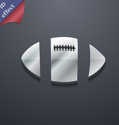 Rugby ball icon symbol 3d style trendy modern vector