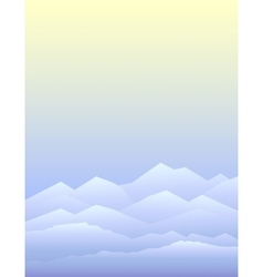 Peaceful mountains in winter vector