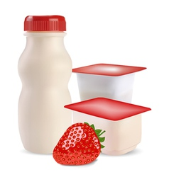 Strawberry products vector