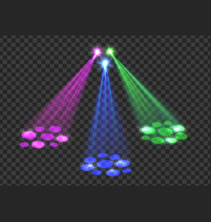Concert light over transparent background vector