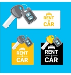 Car rent concept flat banner vector