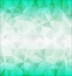 Abstract poligon background in green tones vector