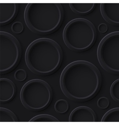 Black abstract seamless pattern with circles vector image vector image