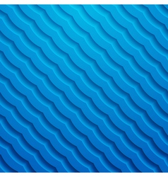 Blue 3d wavy background vector