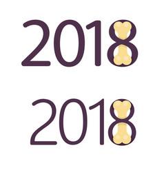 bones for dog flat logo 2018 new year vector image vector image