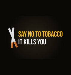 collection no tobacco day banner vector image vector image