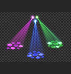 Concert light over transparent background vector image