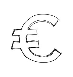 Euro money symbol vector