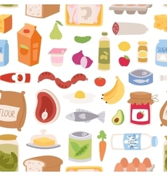 Everyday food seamless pattern vector