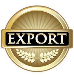Export Gold Emblem vector image vector image