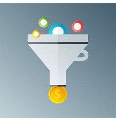 Funnel with money vector