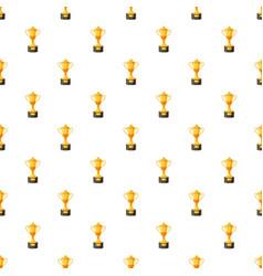 Golden winner cup pattern vector
