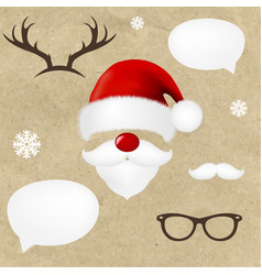 hipsters christmas set vector image vector image