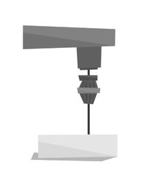 Industrial milling tool vector