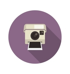 Instant camera vector image