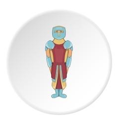 Knight icon cartoon style vector