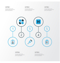 medicine colorful icons set collection of form vector image vector image