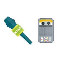 Microphone tape recorder dictaphone icon vector